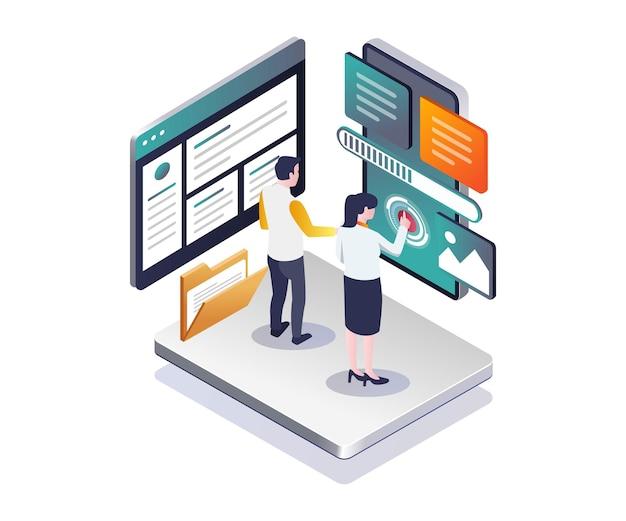Web- en smartphone-applicaties onderhouden