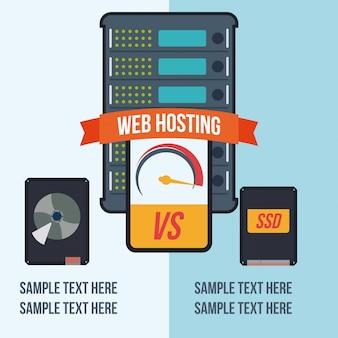 Web hosting ontwerp.