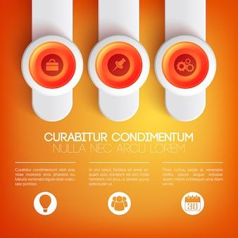 Web infographic presentatiesjabloon