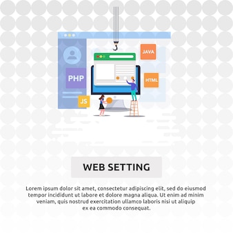 Web instelling