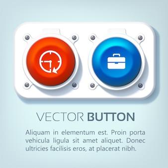 Web interface knoppen set Gratis Vector