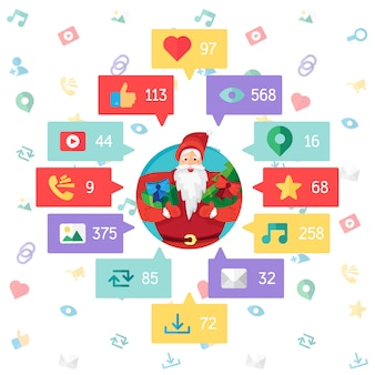 Web life of santa claus van blog en sociale netwerken