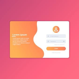 Web login ui ontwerpsjabloon vector