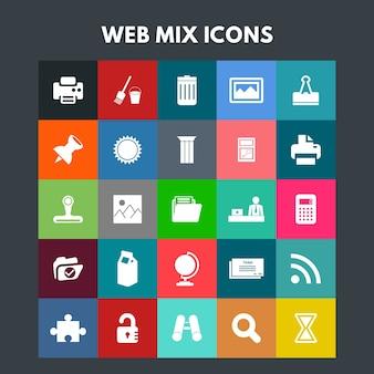 Web mix-pictogrammen