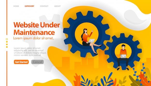 Web onder onderhoud, 404 niet gevonden, web in verkoop, web in reparatie