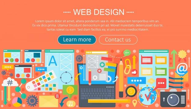 Web ontwerp header ontwerp