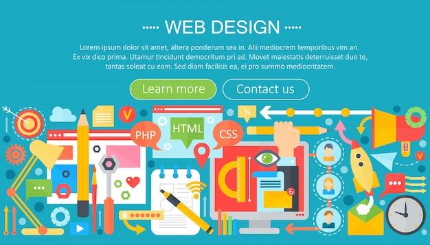 Web ontwerp infographic