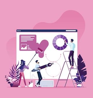 Web ontwerp proces concept
