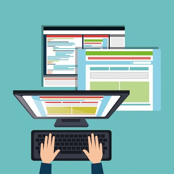 Web ontwerpconcept