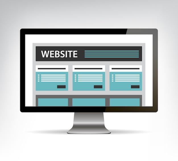 Web ontwerpsjabloon in elektronisch apparaat