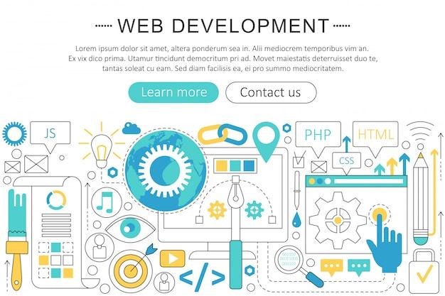 Web ontwikkelingsconcept