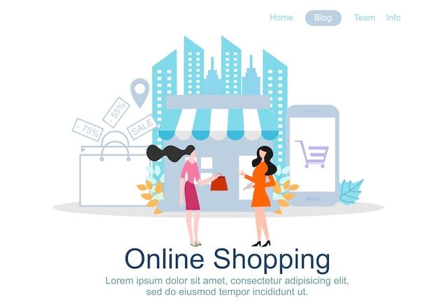 Web-pagina ontwerpsjablonen voor online winkelen