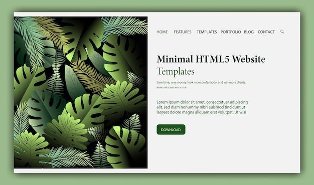 Web-pagina ontwerpsjabloon voor schoonheid, natuurlijke producten.
