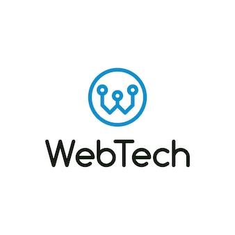 Web tech letter w logo