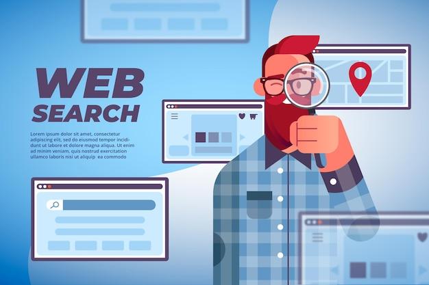 Web zoeken concept sjabloon