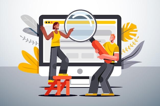 Web zoeken concept