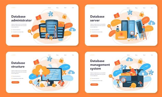 Webbanner of bestemmingspagina-set voor databankbeheerder