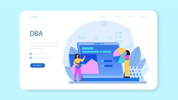 Webbanner of bestemmingspagina voor databankbeheerder