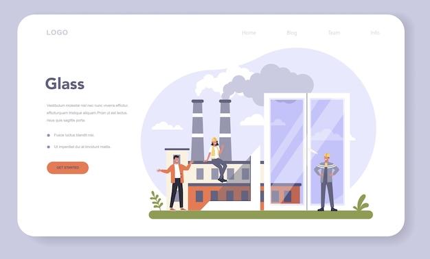 Webbanner of bestemmingspagina voor de bouwproductenindustrie