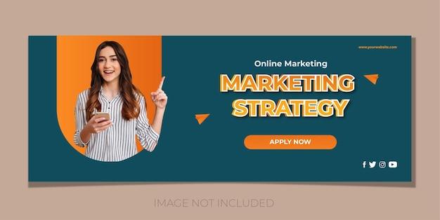 Webbanner voor online marketing