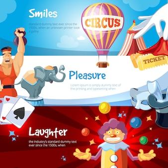 Webbanners van circusshow