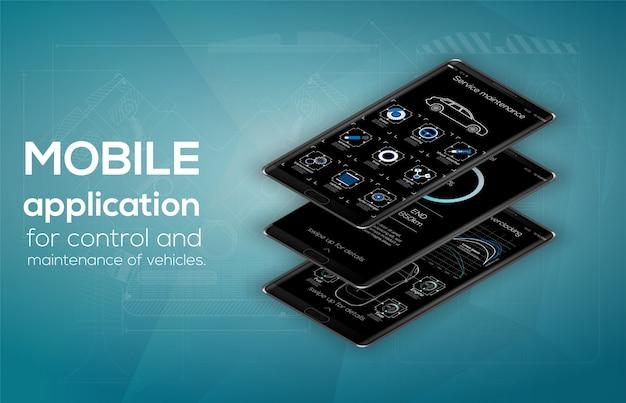 Webdesign en mobiele sjabloon