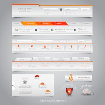 Webdesign navigatie set.