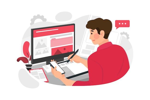 Webdesigner planningstoepassing voor mobiele telefoon