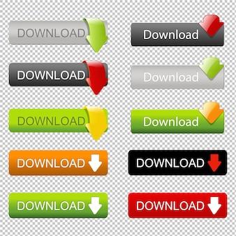 Webelementen downloaden met pijl instellen