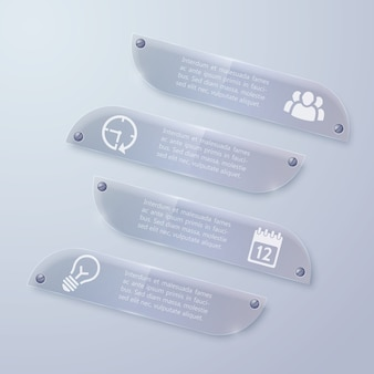 Webglas infographic horizontale banners
