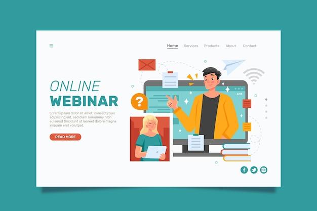 Webinar-bestemmingspagina-sjabloon
