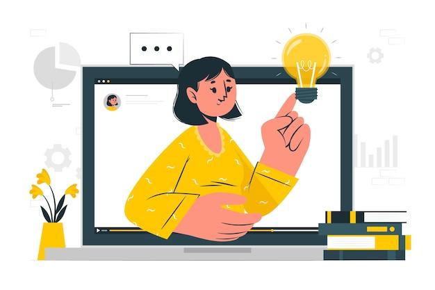 Webinar concept illustratie