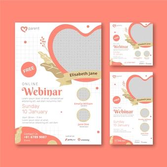 Webinar flyers sjabloon