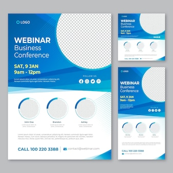 Webinar flyers sjabloon