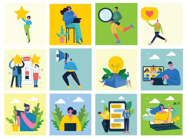 Webinar online concept illustratie.