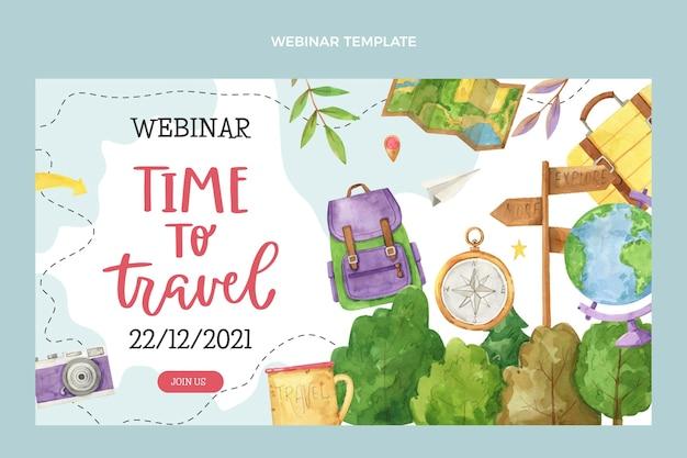 Webinar sjabloon voor aquarel reizen