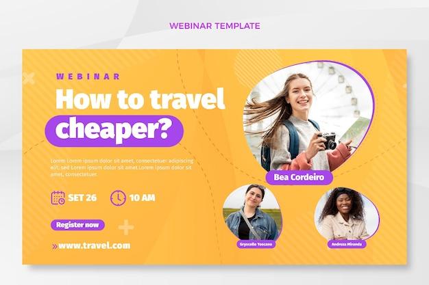 Webinar-sjabloon voor platte reizen