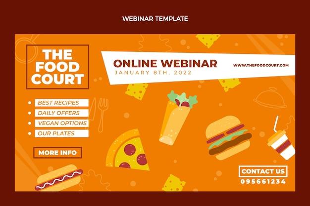 Webinarontwerp voor plat voedsel