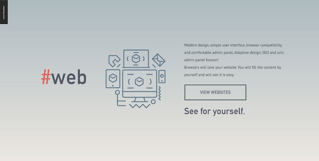 Webontwerp blok website sjabloon