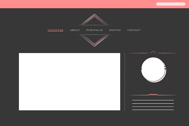 Webontwerp voor de vector van de portlandlay-out
