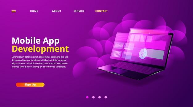 Webontwikkeling, codering en programmering van responsive layout internetsite of app van apparaten.