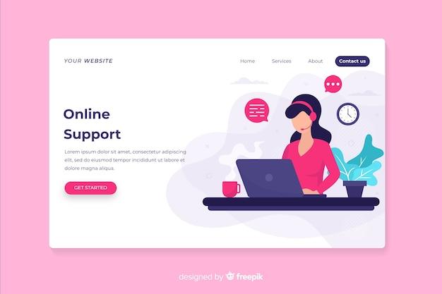 Webpagina met contact ons ontwerp