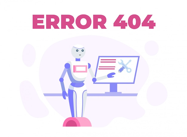 Webpagina onderhoud of 404 error cartoon poster
