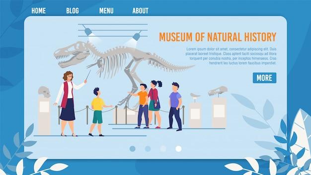 Webpagina presenteert natural history museum for kids