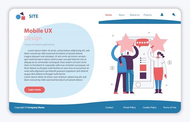 Webpagina site concept illustratie in plat en schoon ontwerp. bestemmingspagina, applicatie voor één pagina voor mobiele ontwikkeling, optimalisatie, ontwerp.