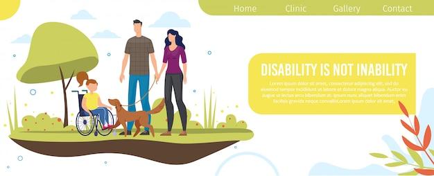 Webpagina voor ondersteuning van gehandicapte kinderen