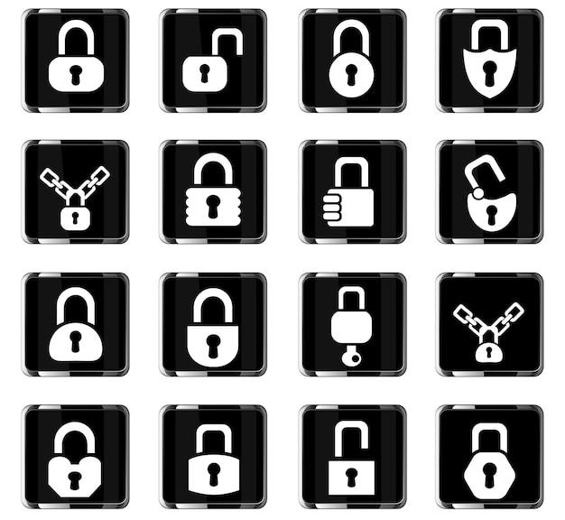 Webpictogrammen vergrendelen voor ontwerp van gebruikersinterface