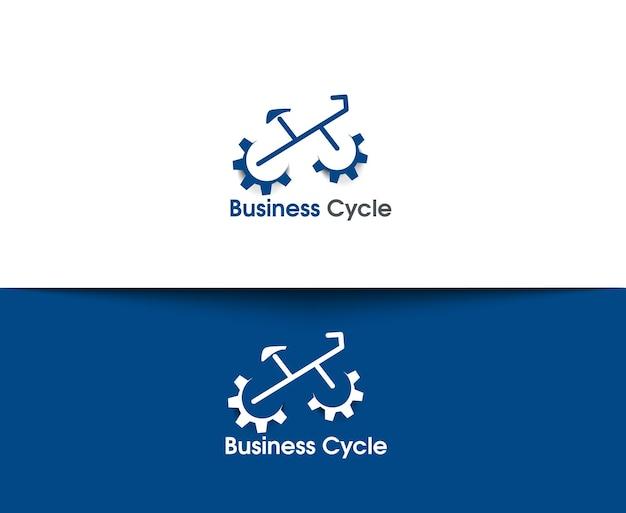 Webpictogrammen voor fietsen en fietsen en vectorlogo