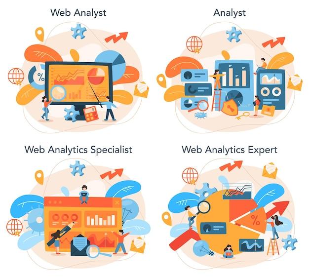 Website analist concept set