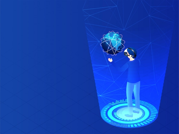 Website-banner of sjabloonontwerp voor augmented reality (ar) con